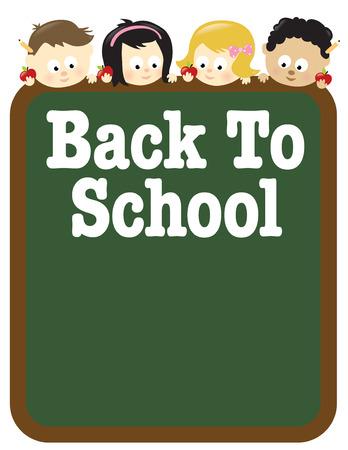 8.5x11 Back To School flyer template w/ vaus nationalities Stock Vector - 6308668