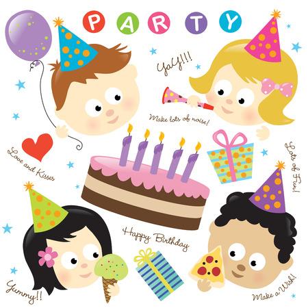 Party elementen met kinderen