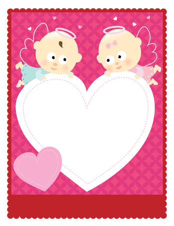 8.5x11 Valentine Flyer Stock Vector - 10424670
