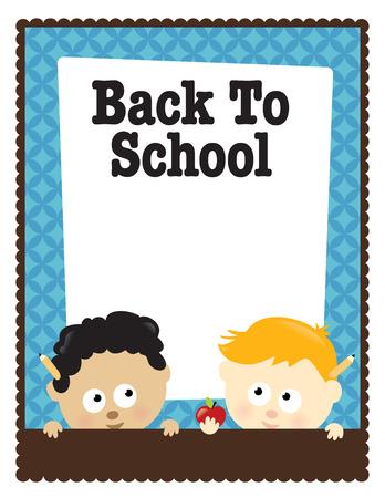 preschool poster: 8.5x11 Back To School  Illustration