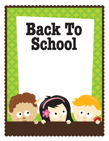 8.5x11 flyer Back To School Vector