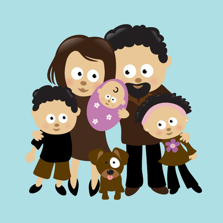 black family smiling: We are Family 2 Illustration