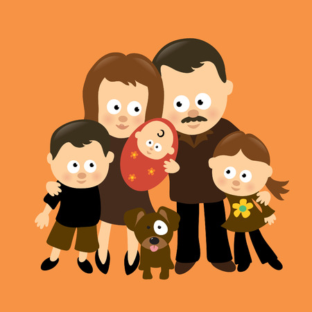 We are Family 3 (Hispanic) Vector