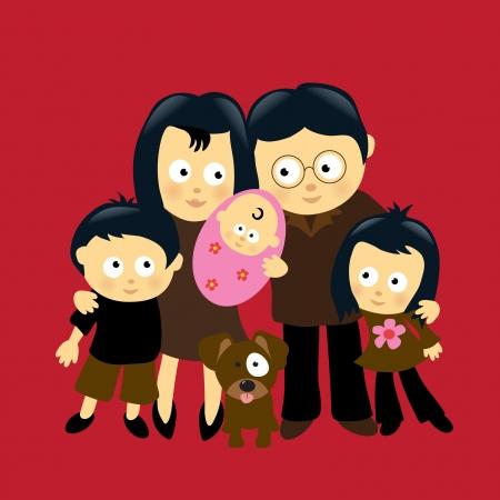 Wir sind Family-4 (asiatisch)  Standard-Bild - 6349132