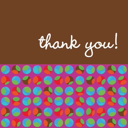 festive background: Thank You Card