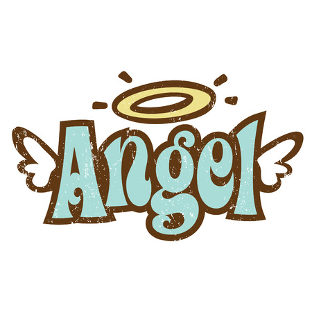 alas de angel: A�os setenta Vintage T-Camisa dise�o  Vectores
