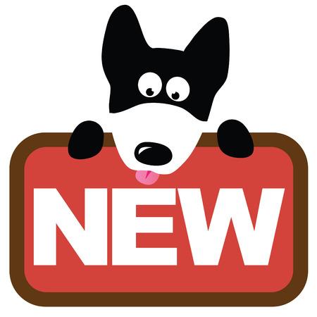 Cane lupo azienda segno  Vettoriali