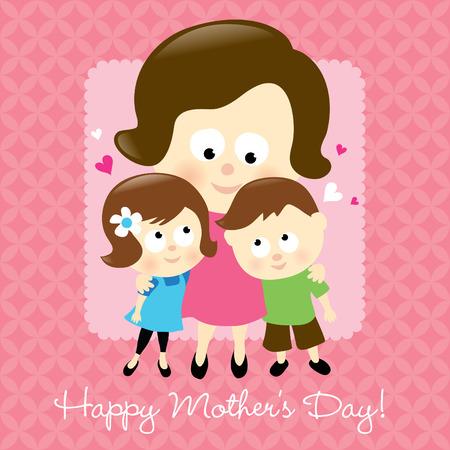dzień matki: Wszystkiego najlepszego z okazji Dnia Matki Ilustracja