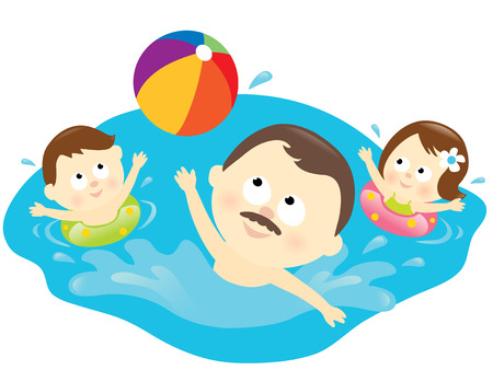 kids swimming pool: Estilo de vida de familia saludable
