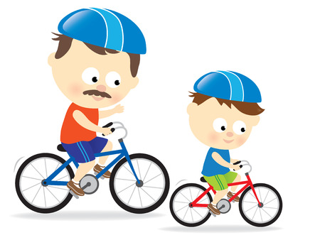 Active family lifestyle 2 Vector