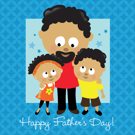 Happy Fathers Day African American Vector