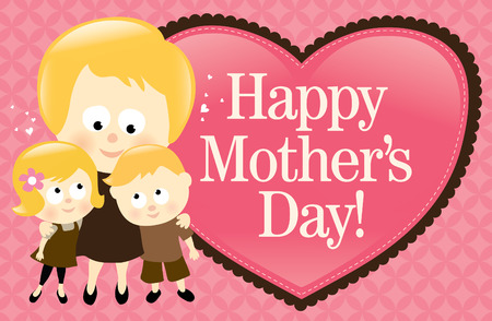 Happy Mothers Day Banner - Blonde Vector