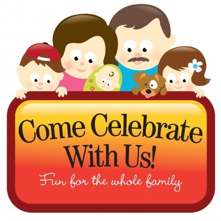 Familie bedrijf sign - Kaukasische