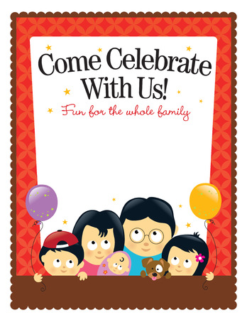 8.5x11 flyer template - Asian Family