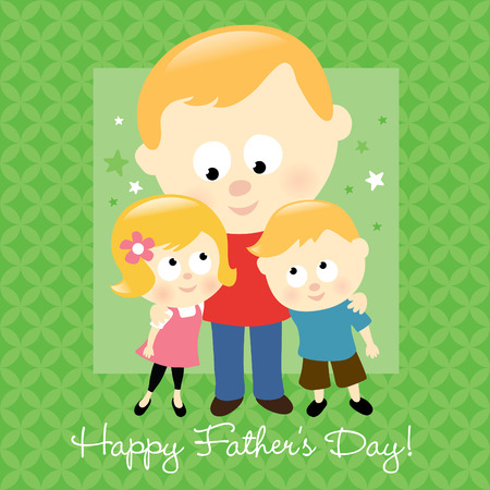 Happy Fathers Day - Blond Vector
