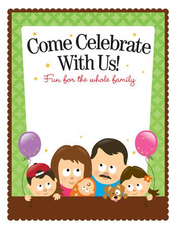 Ltr size (8.5x11in) flyer template – Hispanic Family Ilustração