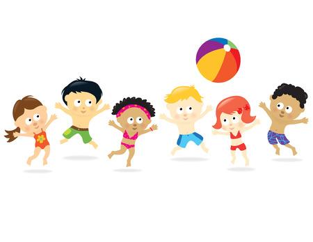 bambini cinesi: Spiaggia Kids - multietnico