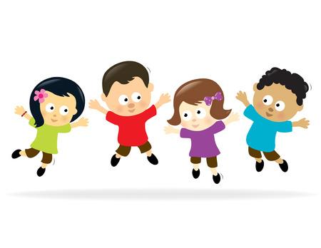 Springen kinderen 2  Stock Illustratie