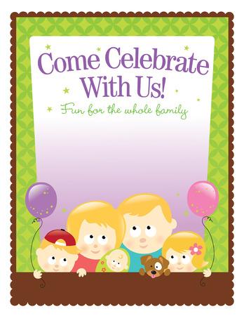 8.5x11 (ltr size) template – Blond Family Ilustracja