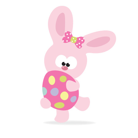 Easter Bunny holding an egg Vector