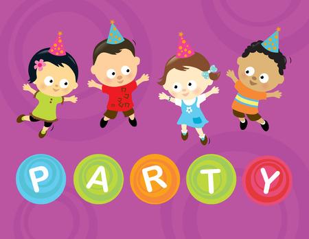 white party: Kleine partij kinderen