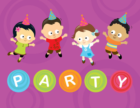 american children: Little party kids
