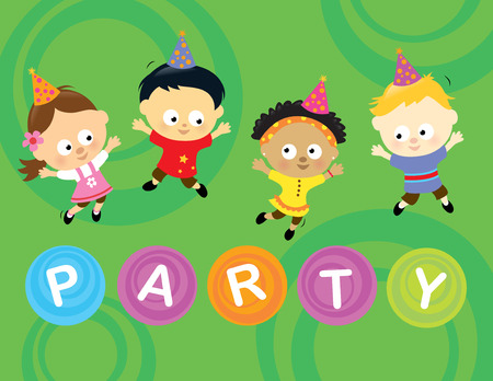 Little party kids 2 Vector