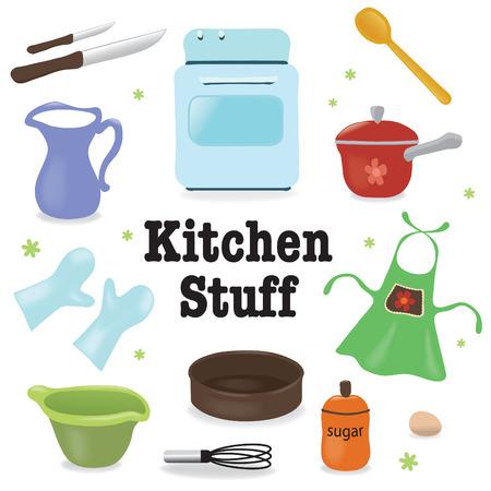 Keuken materiaal Stock Illustratie