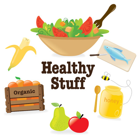 eating healthy: Healthy stuff 1 Illustration