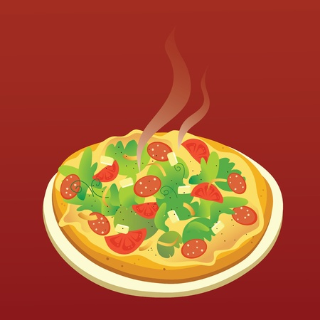 Hot Pizza Stock Vector - 11666343