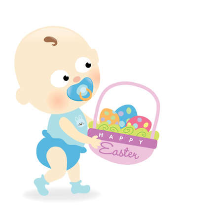 Easter baby  イラスト・ベクター素材