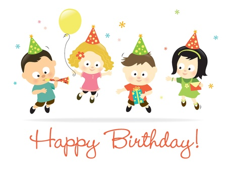 Happy Birthday kids 2 Stock Vector - 13332021