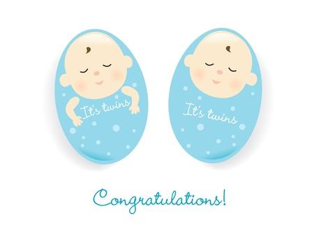 congratulations word: twins (boy)