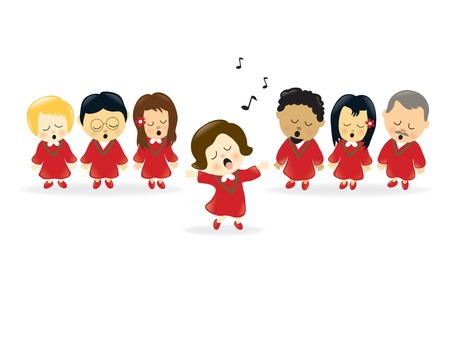 Adult Choir  Vector