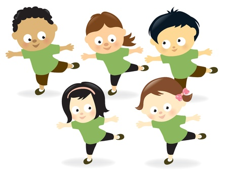 educacion fisica: Ni�os trabajando