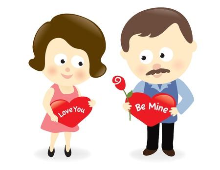 Valentine couple  Stock Vector - 17176865