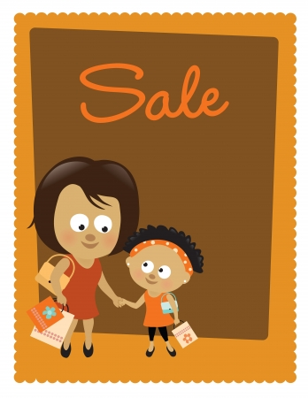 mixed family: Sale poster