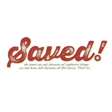 Vintage Christian design  Saved! 向量圖像