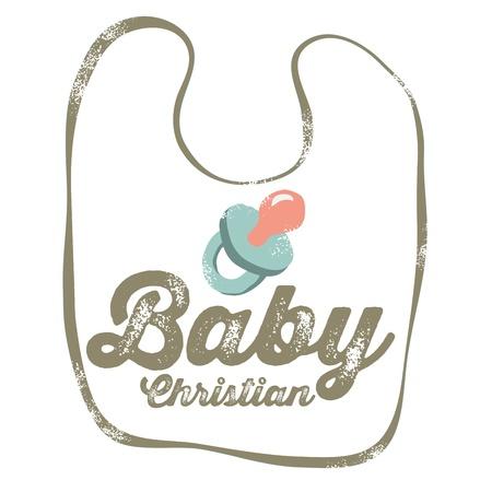 babero: Vintage dise�o cristiano del beb�