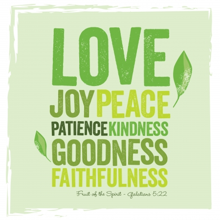 kindness: Vintage Christian design � Fruit of the Spirit Illustration