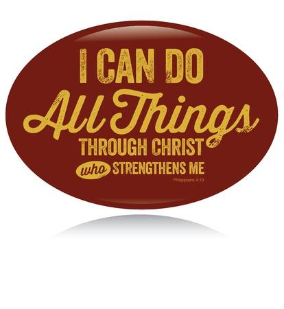 t shirt print: Dise�o de la vendimia cristiana puedo hacer todas las cosas Vectores