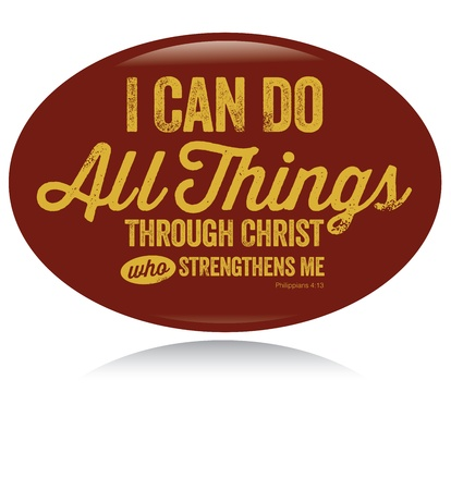 christian faith: Vintage Christian design – I can do all things Illustration