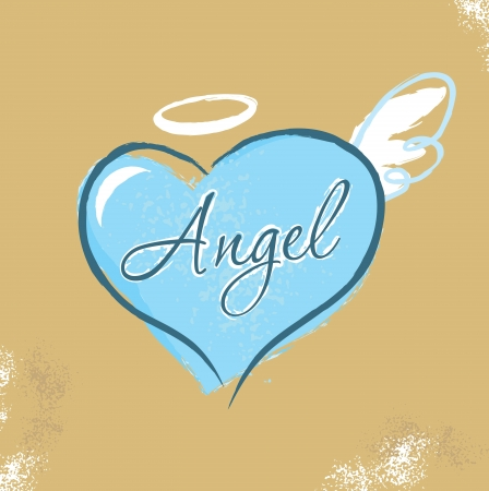 heart and wings: Vintage Christian design � Angel