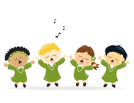 voices: Coro cantando alabanzas Vectores