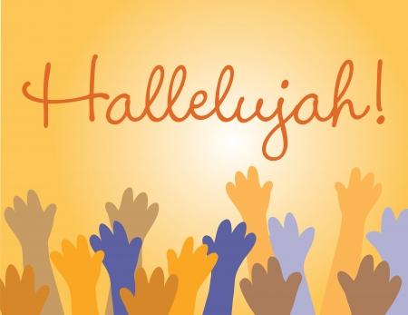 religious celebration: Hallelujah Jesus  Illustration
