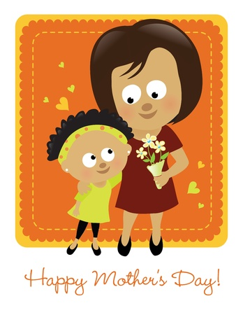 mixed family: Happy Mother s Day 2  Illustration
