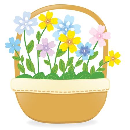 Bloemenmand Stock Illustratie