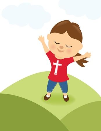 praise and worship: Girl praising the Lord