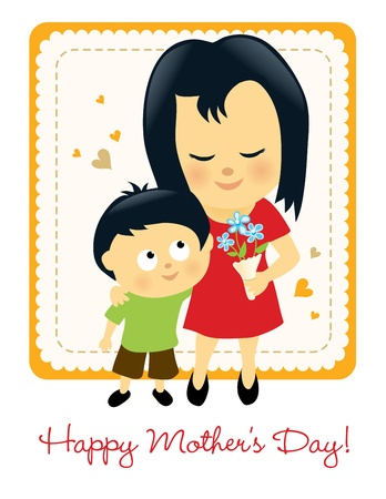 mother   s day: Happy Mother s Day 3 Vectores