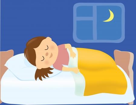 enfant qui dort: Jeune fille endormie